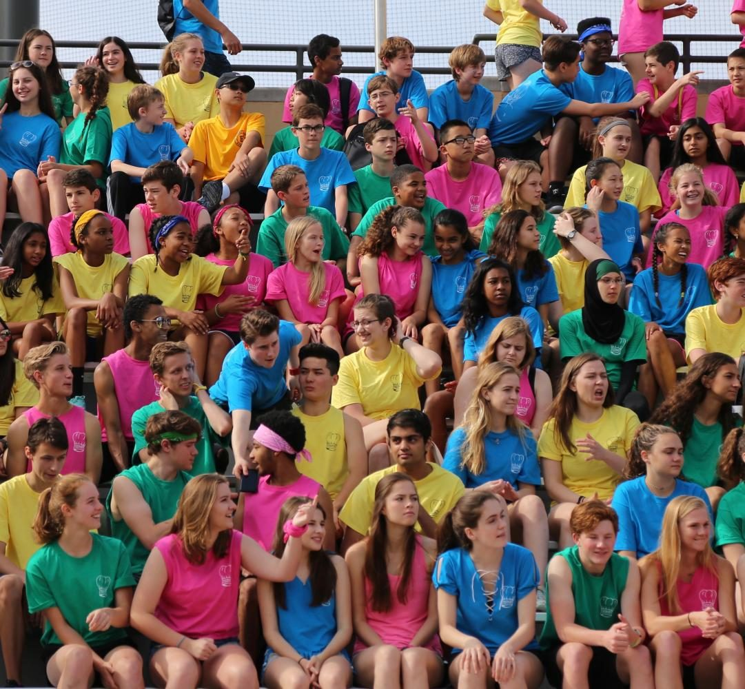 Students during Field Day 2017 Closing Ceremonies.