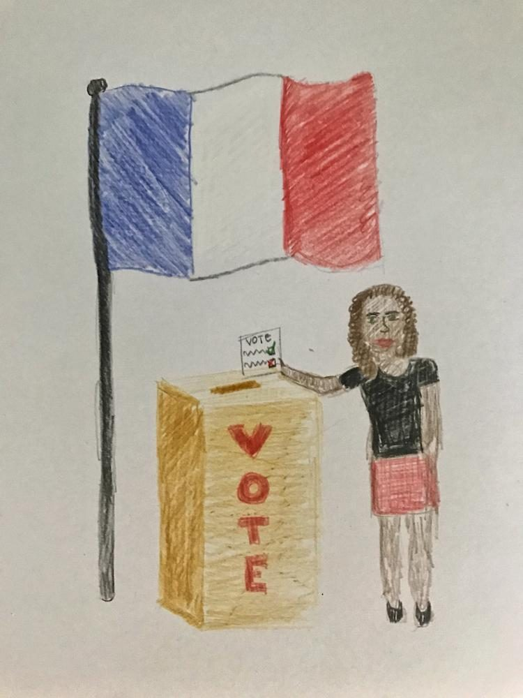 Cartoon of French Voter