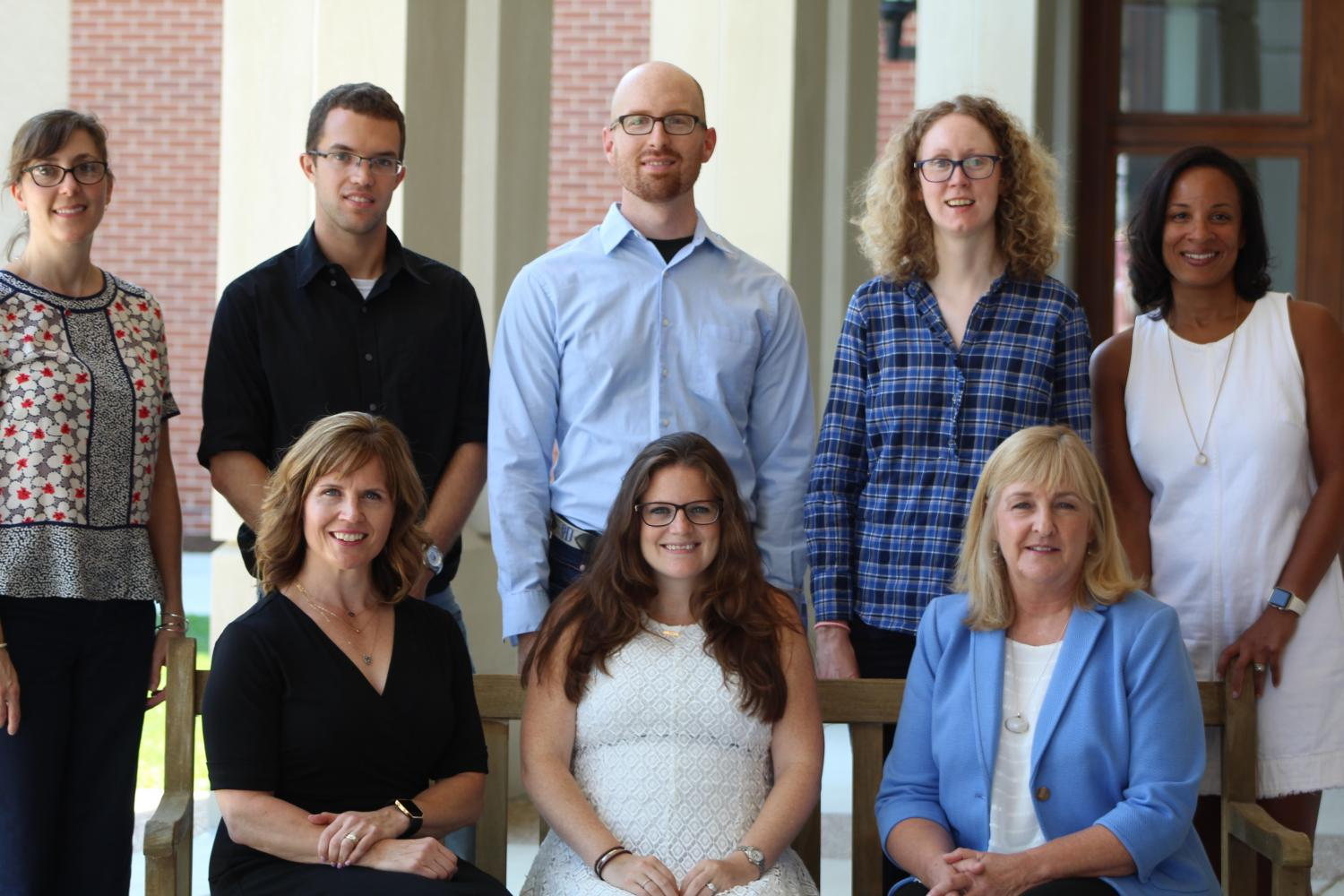Group photo of new teachers joining faculty.