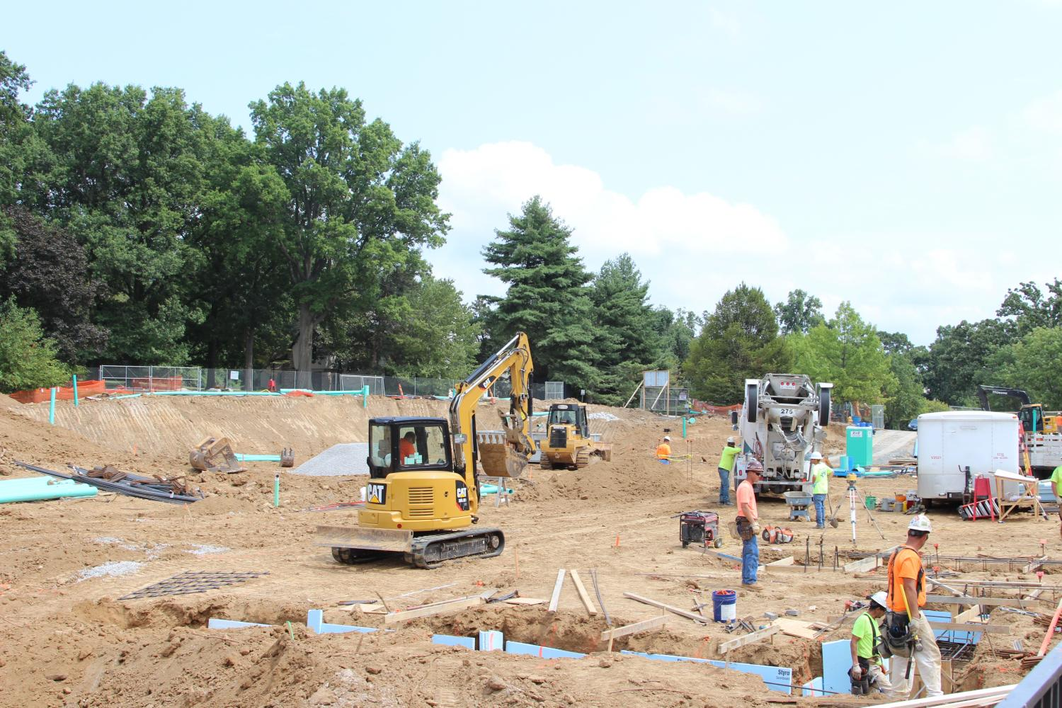 Construction Workers begin building on the JBS campus.
