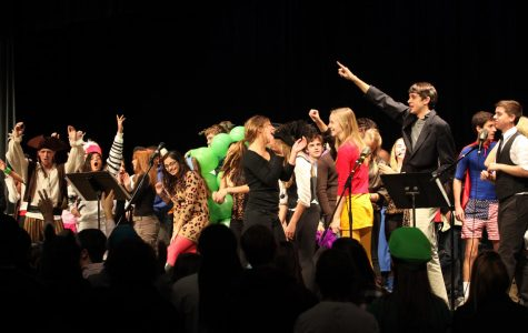 The class of 2013 performs their take on the classic Halloween assembly.