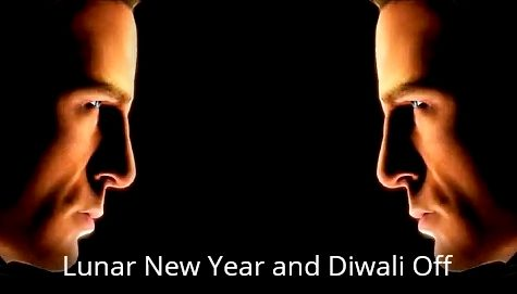 Lunar New Year and Diwali Off Head-to-Head