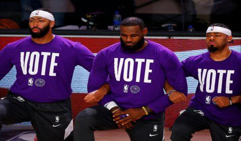 Star Athletes Use Platform for Message: Vote, Please